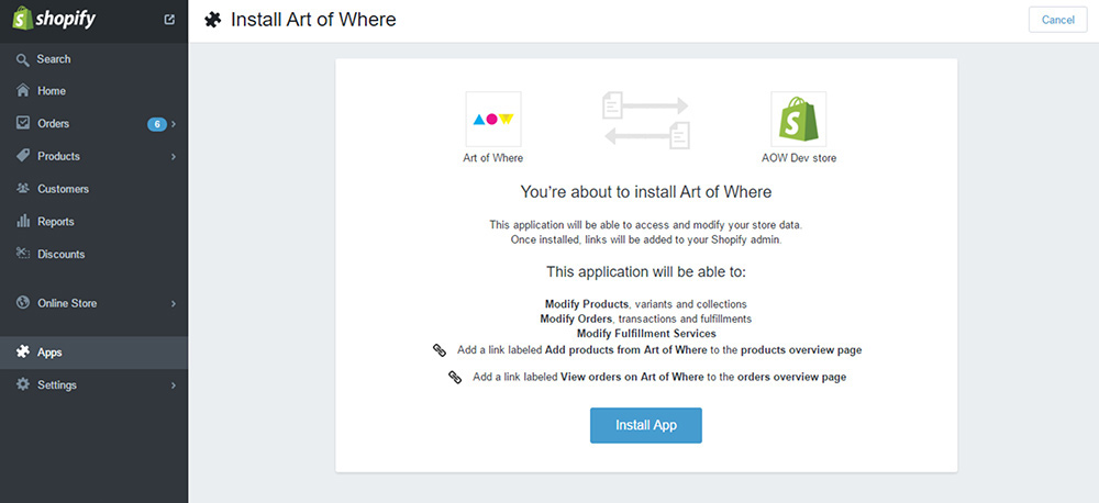 Art of Where and Shopify