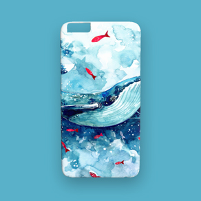 Picture of a custom iPhone 6 / 6S Plus case