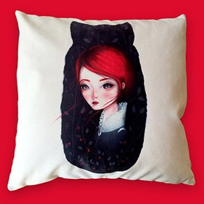 """Picture of a custom printed 22"""" x 22"""" pillow"""