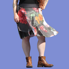 Picture of a custom wrap-skirt