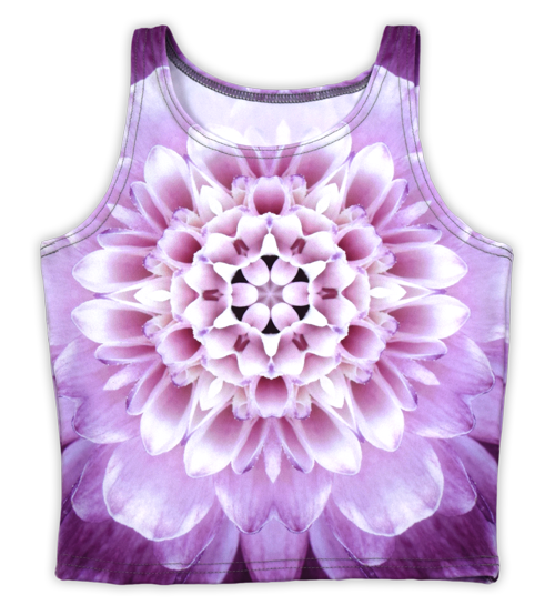 Flat custom printed athletic crop top