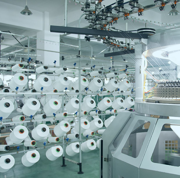 Picture of a machine making the fabric