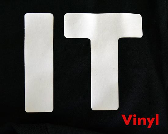 Vinyl letter print