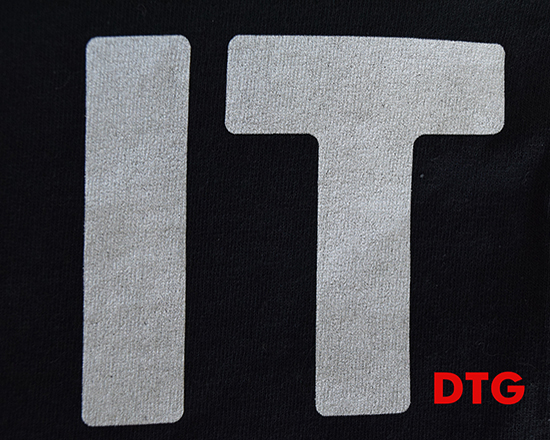 DTG letter print