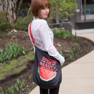 Girl with a day tote