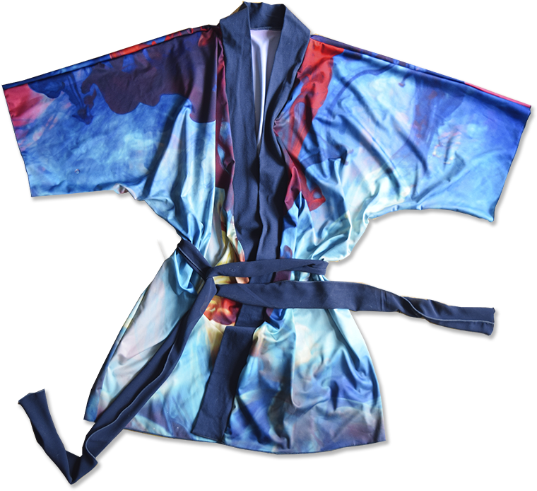 Picture of a custom printed Kimono Robe