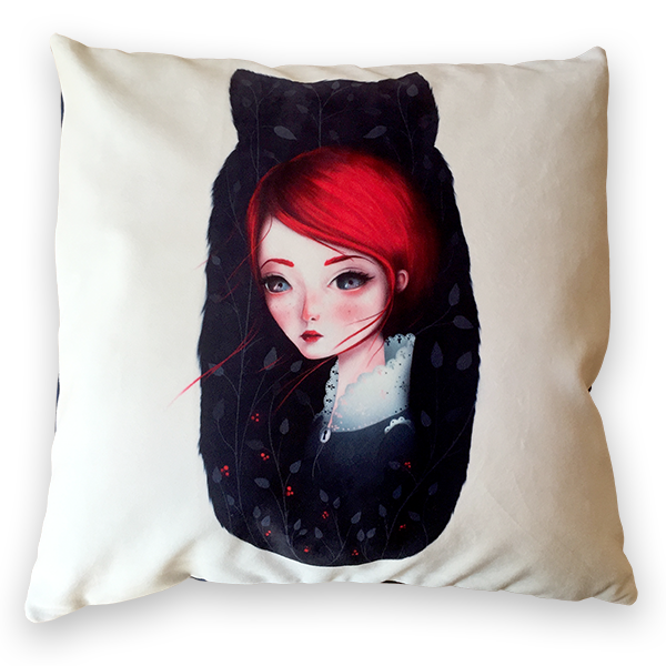 "Custom printed 22"" x 22"" throw pillow"