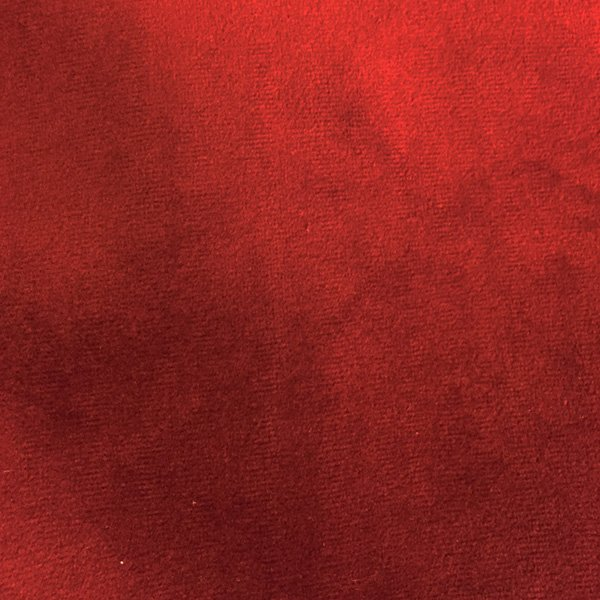 Red pillow velveteen fabric
