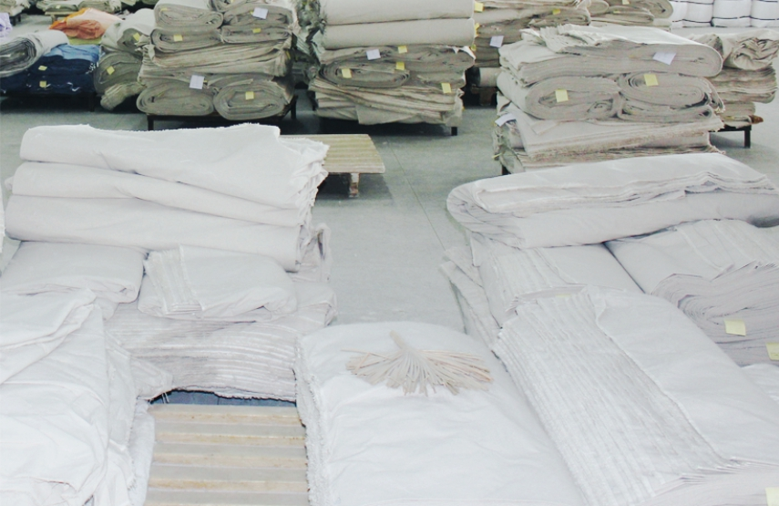 Piles of fabric