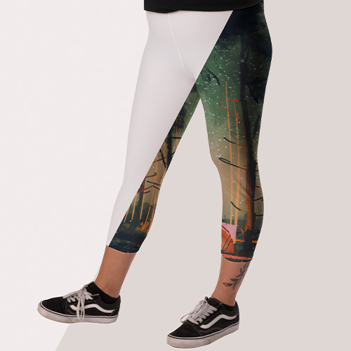 Picture of custom printed Leggings and Capris