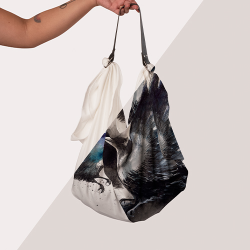 Picture of custom printed Origami Tote