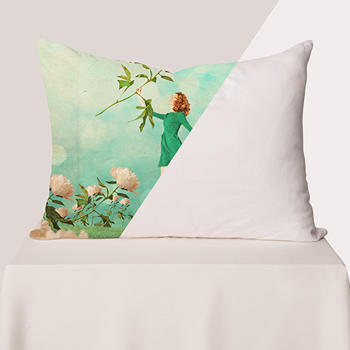Picture of custom printed Cotton Linen Pillow cases