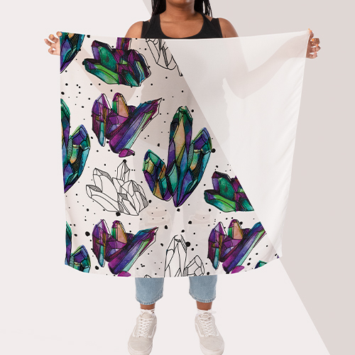 Picture of custom printed Silk Scarves