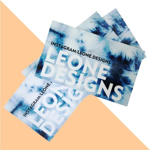 Branded artist cards