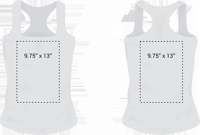Tank top print area