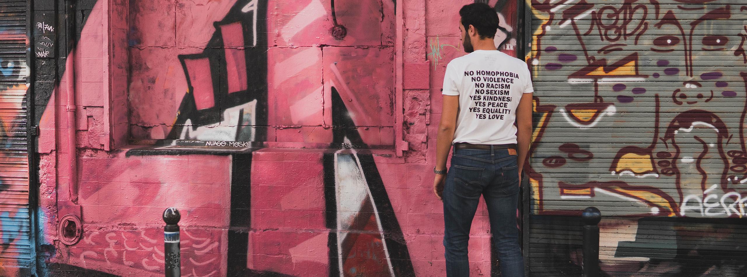 Bannière t-shirt pour homme 1
