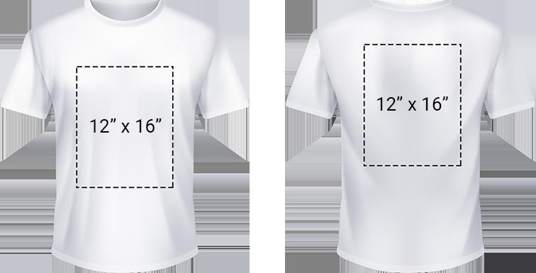 Zone d'impression du t-shirt
