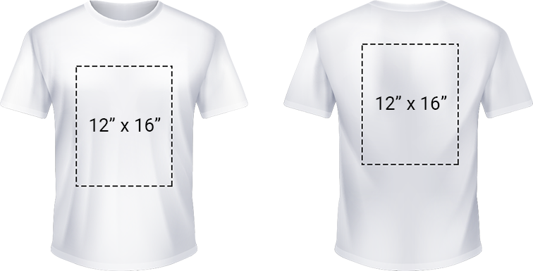 Zone d'impression du t-shirt