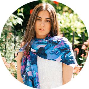 Silk habotai scarf