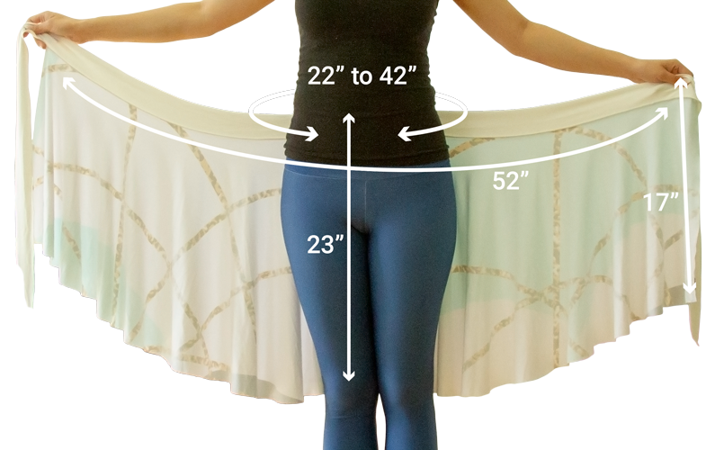 Wrap skirt dimensions