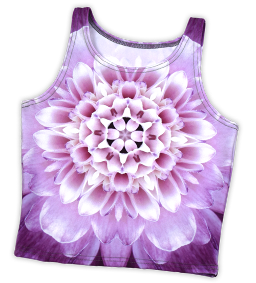 Picture of a custom printed Athletic Crop Top