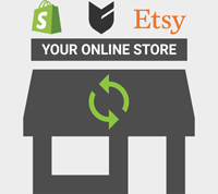 Sync products to your Shopify, Big Cartel or Etsy store