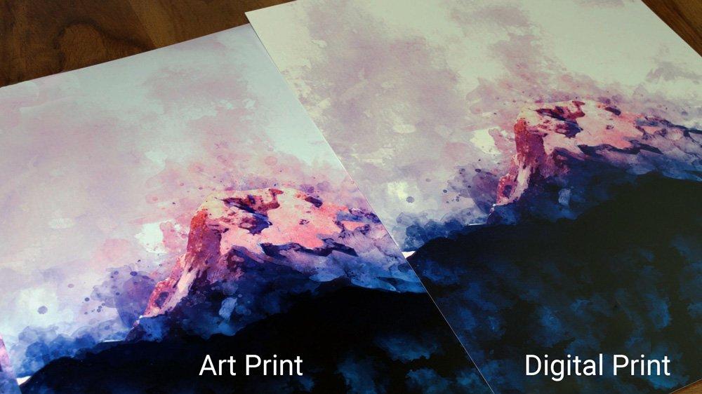 Prints comparison